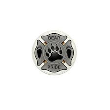 Bear Pride Firefighter Badge Mini Button