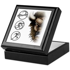 buffalo head glass Keepsake Box