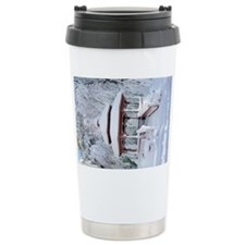 Gazebo surround by snow 11 Travel Mug