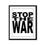 Stop The War Framed Panel Print