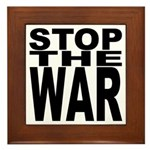 Stop The War Framed Tile