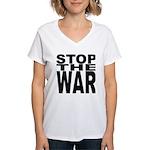 Stop The War Women's V-Neck T-Shirt