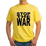 Stop The War Yellow T-Shirt