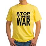 Stop The War Yellow T-Shirt