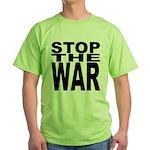 Stop The War Green T-Shirt