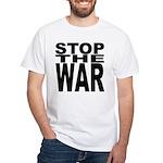 Stop The War White T-Shirt