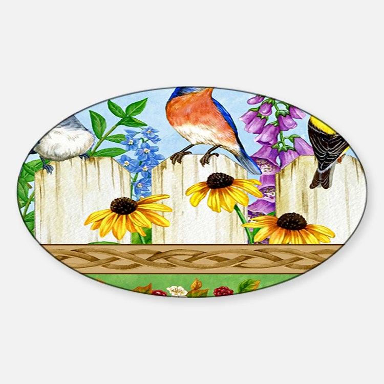 Beautiful birds Sticker (Oval)