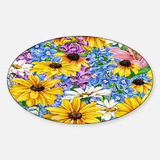blooms in the garden Sticker (Oval)