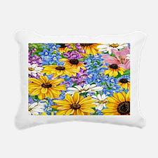 blooms in the garden Rectangular Canvas Pillow