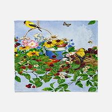 Beautiful birds, busy butterflies, a Throw Blanket