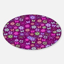 brown-all-a-flutter copyu Sticker (Oval)