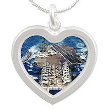 khawk cv lare framed print Silver Heart Necklace