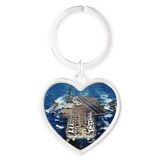 khawk cv lare framed print Heart Keychain