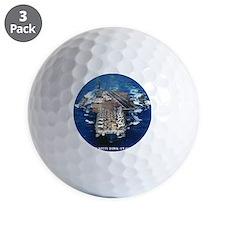 khawk cv framed panel print Golf Ball