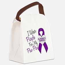 D I Wear Purple 18 Paw Paw Alzhei Canvas Lunch Bag