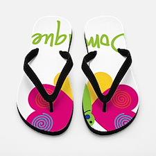 Dominique-the-butterfly Flip Flops