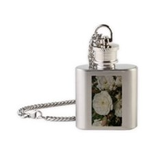 Yummy White Roses Flask Necklace