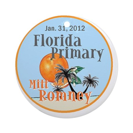 Romney Florida Round Ornament