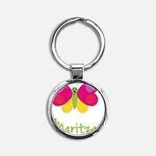 Maritza-the-butterfly Round Keychain