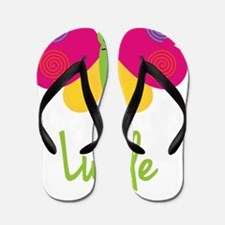 Lucile-the-butterfly Flip Flops