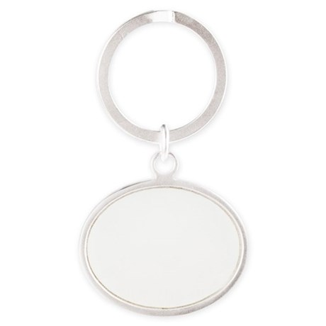 SOS Classic White Oval Keychain
