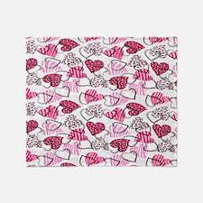 Allover Valentine Hearts copyy Throw Blanket