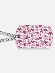 Allover Valentine Hearts copyy Dog Tags