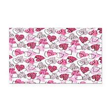 Allover Valentine Hearts copy Rectangle Car Magnet