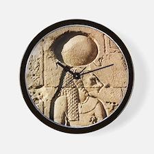 Sekhmet at Esna-sqr Wall Clock