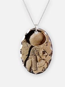Sekhmet at Esna-sqr Necklace