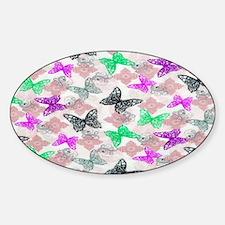 butterfliesssss copy Sticker (Oval)