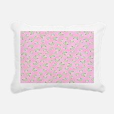 Bubblegum Butterflies Rectangular Canvas Pillow