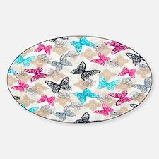 butterfliesssss Sticker (Oval)