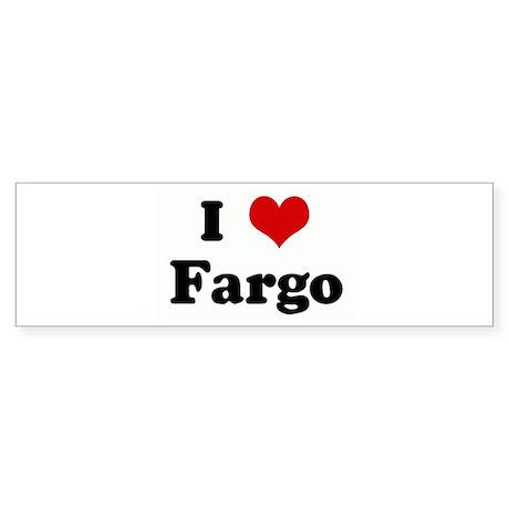 I Love Fargo Bumper Sticker