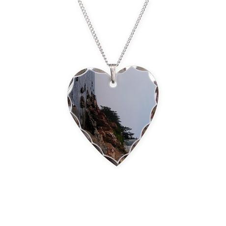 Bass Light keychain Necklace Heart Charm