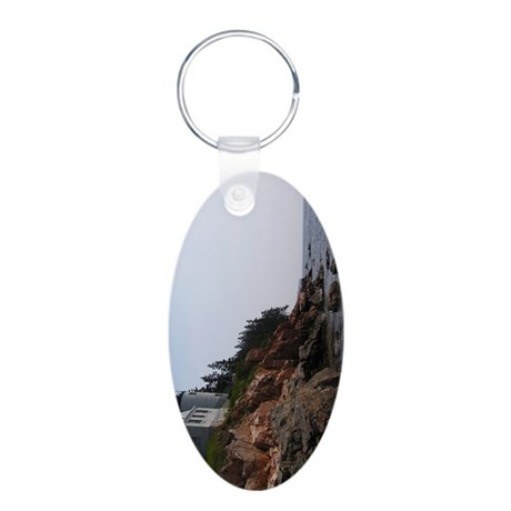 Bass Light keychain2 Aluminum Oval Keychain