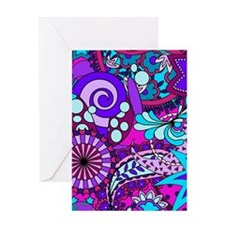 Solid Paisley Greeting Cards