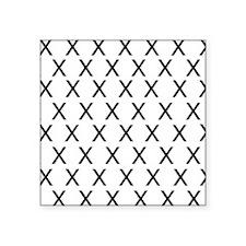 "HELVETICA-X-no-words Square Sticker 3"" x 3"""