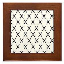 HELVETICA-X-no-words Framed Tile