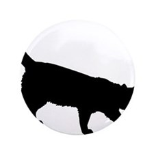 "Black Cat on White 3.5"" Button (100 pack)"
