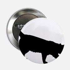 """Black Cat on White 2.25"""" Button (100 pack)"""