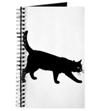Black Cat on White Journal