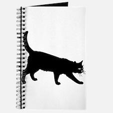 Black Cat on White Journal