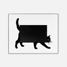 Black Cat on White Picture Frame