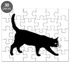 Black Cat on White Puzzle