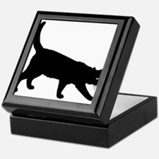 Black Cat on White Keepsake Box