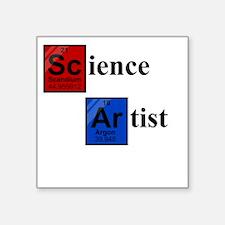 "Science Artist black 2 Square Sticker 3"" x 3"""