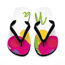 Nola-the-butterfly Flip Flops