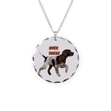 Pointer dog holiday Necklace