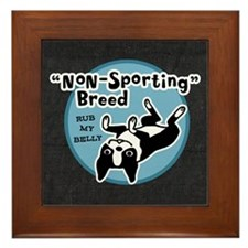 BOSTONTERRIERnonsportpillowgry Framed Tile